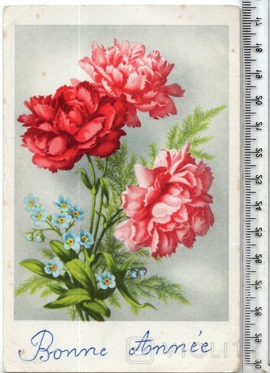 Старинная открытка. 1954 год. Разное.(2), фото №2