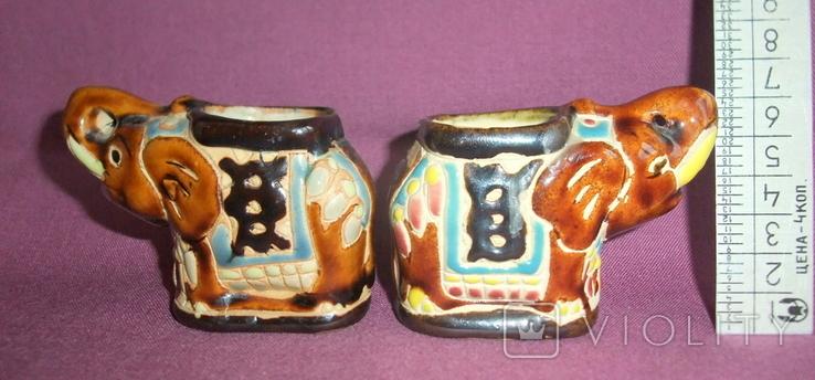 Пепельницы Слоны - Индия керамика поливная глазурь., фото №2