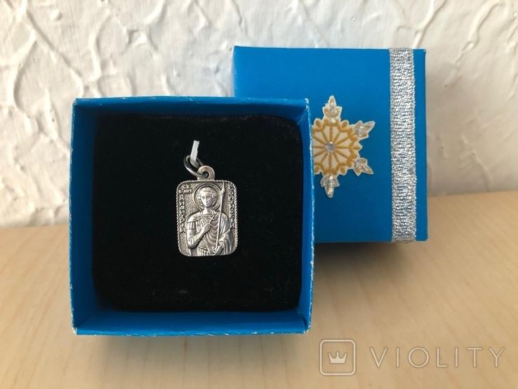 Подвеска «Св. Муч. Димитрій», 2,8 гр; 925/трезубец, фото №2