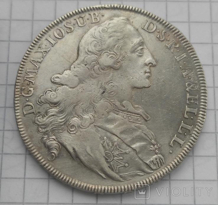 1 талер Патрона герцогства Бавария 1770 -го года, фото №2