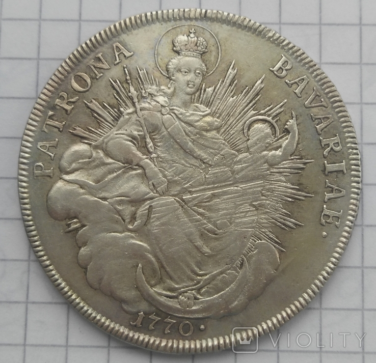 1 талер Патрона герцогства Бавария 1770 -го года, фото №3