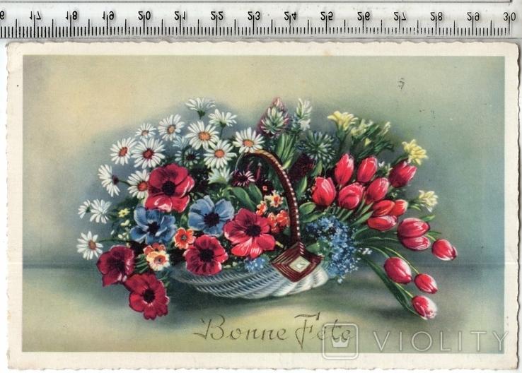 Старинная открытка. 1959 год. Разное.(2), фото №2