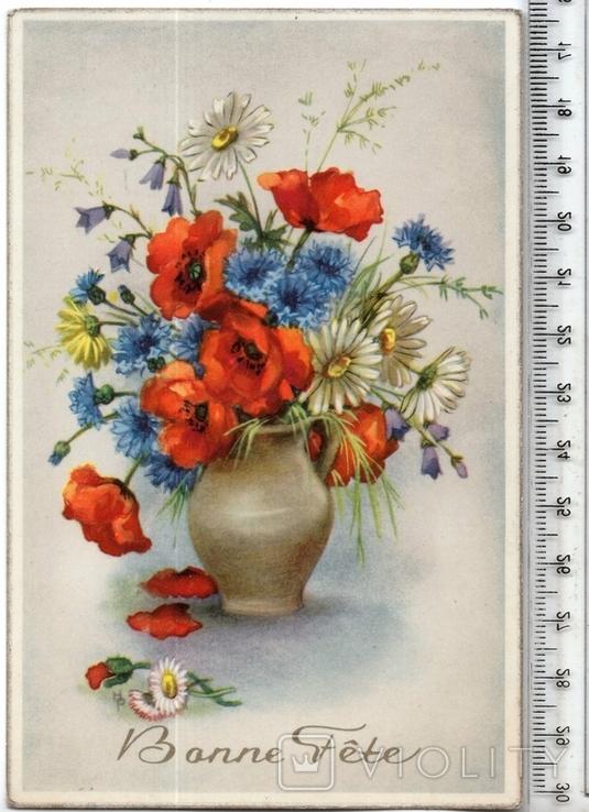 Старинная открытка. 1956 год. Разное.(2), фото №2