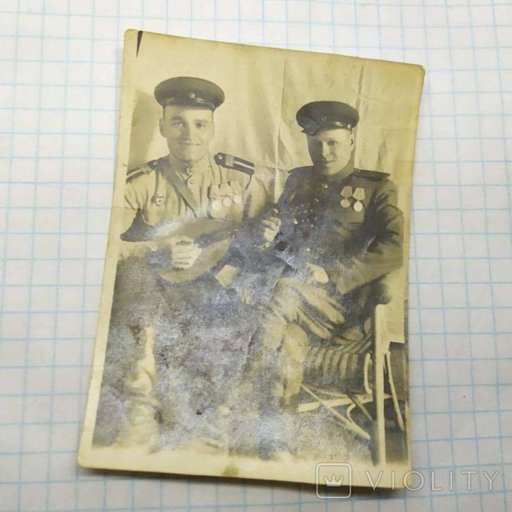 2 фото 9 мая 1945 Красноармейцы. ВОВ, фото №3