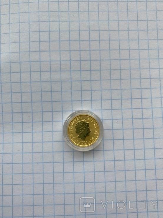 Lunar, Лунар, Монета год дракона 2000 Австралия 1/10 oz 15 Долларов, фото №3