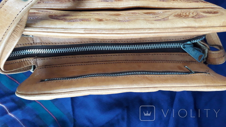 Вінтажна сумка з тисненням, фото №5
