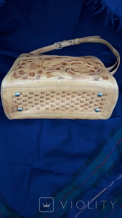 Вінтажна сумка з тисненням, фото №6