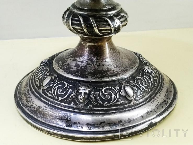 Кубок серебро 800 проба 1880 год., фото №8