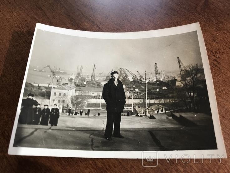 1958 Одесса Строительство порта Порт, фото №4