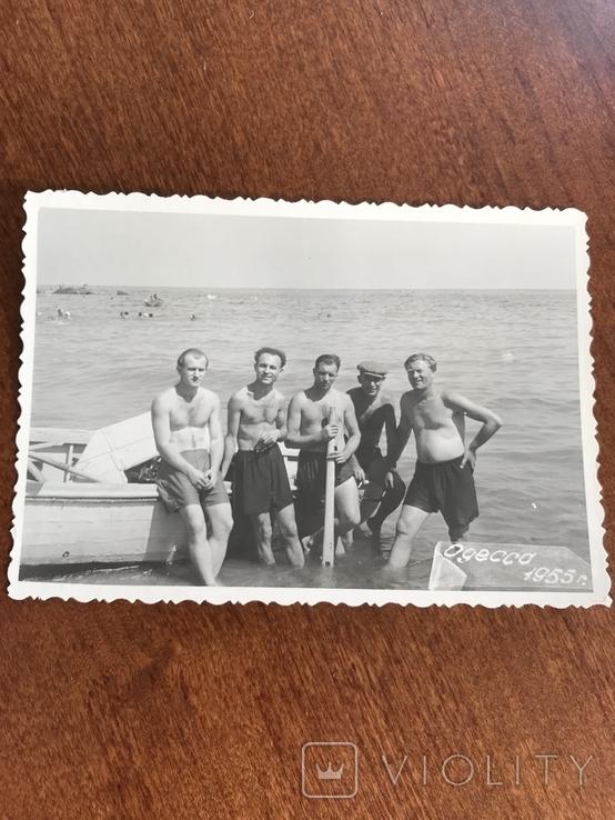 1955 Одесса Рыбаки Лодка, фото №3