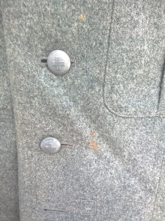 Китель - мундир - пиджак Швейцария армейский , шерсть - сукно,48 размер,1986г/в., фото №3