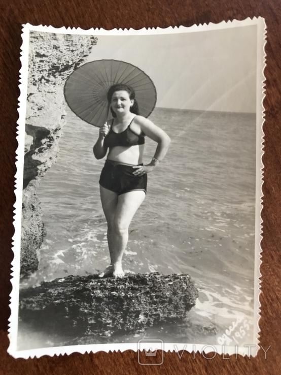 1955 Одесса Камни Зонтик В купальнике, фото №2