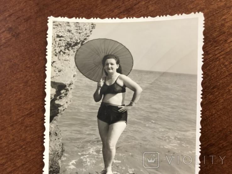 1955 Одесса Камни Зонтик В купальнике, фото №5