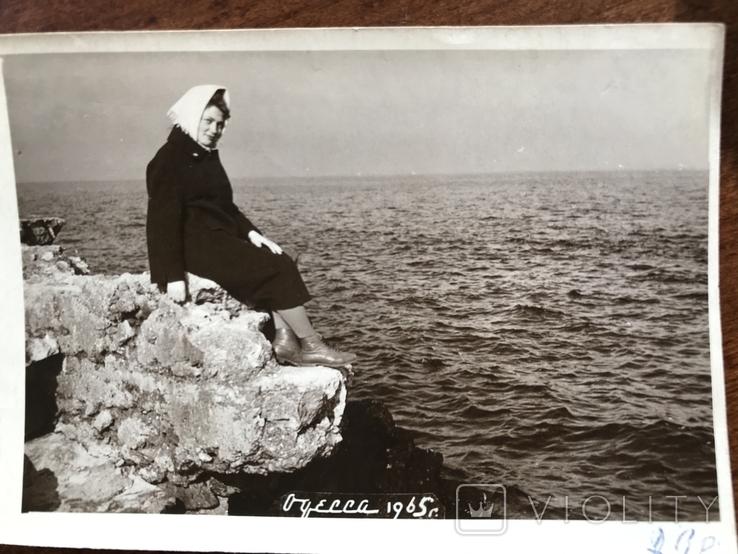 1965 Одесса На берегу Камни Осень, фото №6