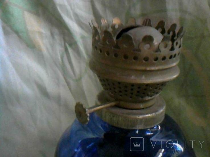 Стеклянная керосиновая лампа, фото №3