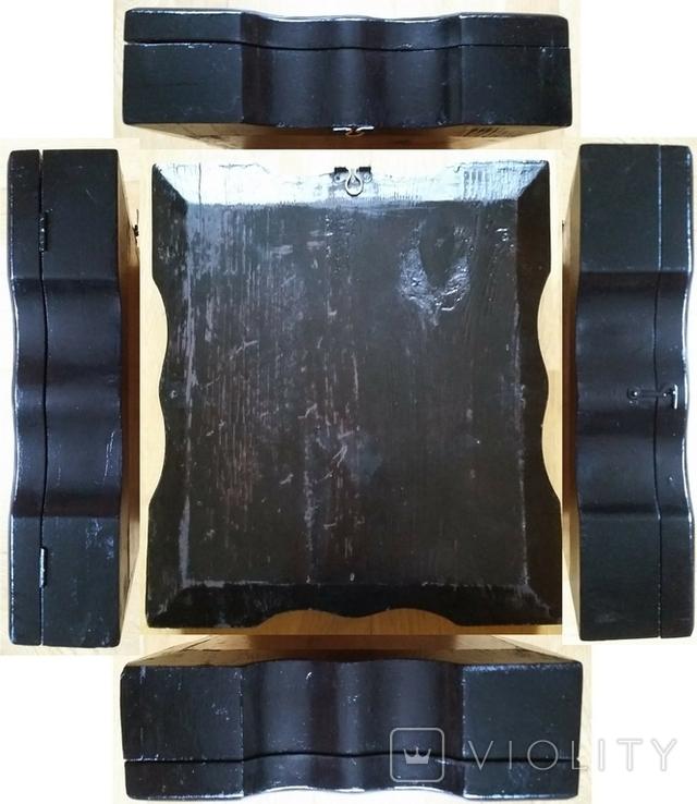 Ікона Казанська Богородиця, латунь 17,7х14,5 см, кіот, фото №13