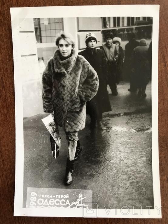1989 Одесса В шубе Мода, фото №2