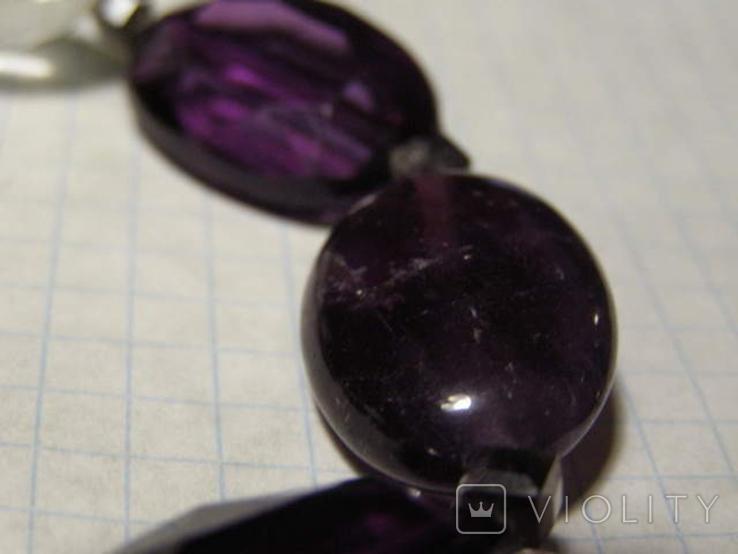 Браслет камень стекло пластик, фото №5