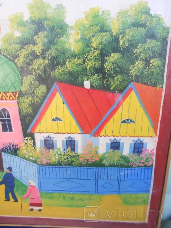 Картина .Украинский приметив. До церкви., фото №7