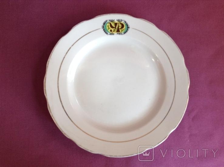 Тарелки обеденные УР. Украинский Ресторан. Фарфор, Коростень., фото №3