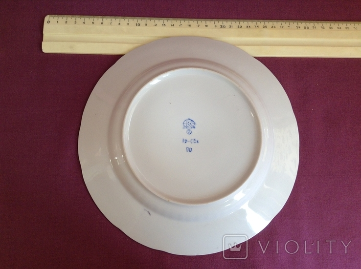 Тарелки обеденные УР. Украинский Ресторан. Фарфор, Коростень., фото №5
