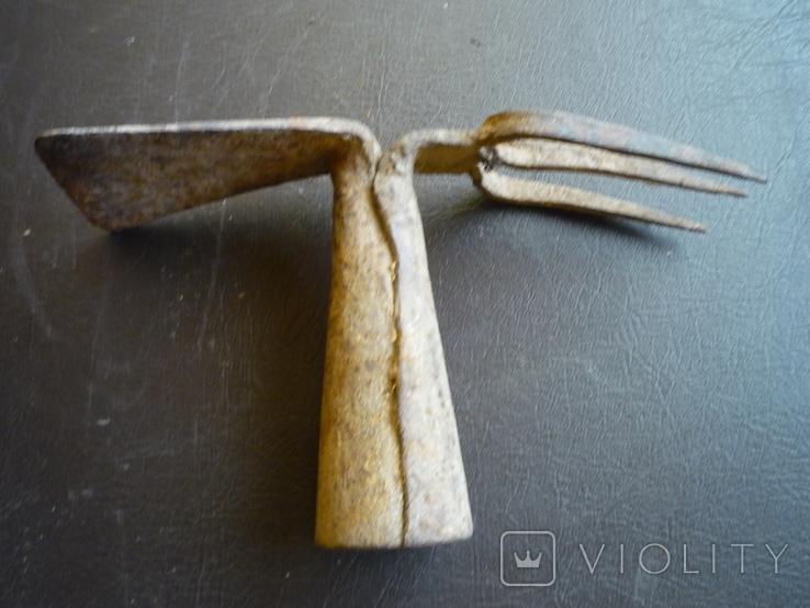 Старая кованная вилка копачка австро венгрия, фото №8