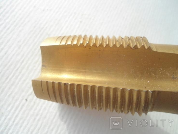 Метчик м/р.трубный G1 титановое покрытие производства Фрезер, СССР, фото №6