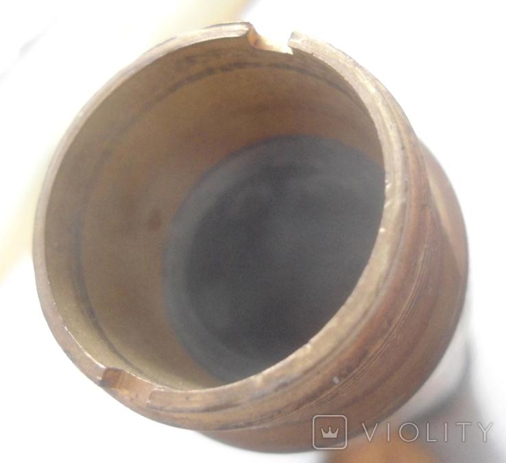 Пенал для инструмента латунь,стеатит СССР, фото №6