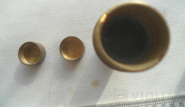 Пенал для инструмента латунь,стеатит СССР, фото №7
