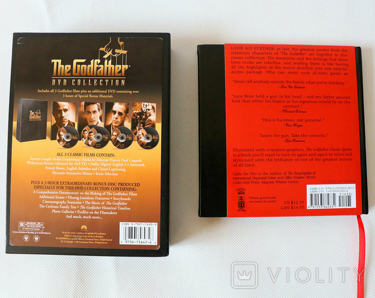 The Godfather Collection 5 DVD + Книга Classic Quotes, фото №5