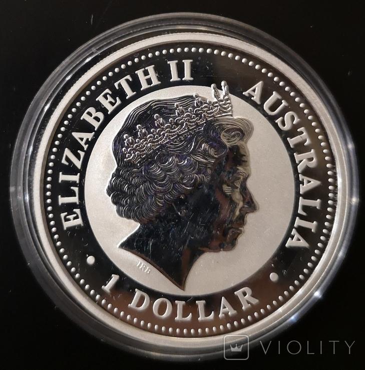 Австралия 1 доллар 2006 год Собаки серебро 1 унция 999 пробы, фото №3