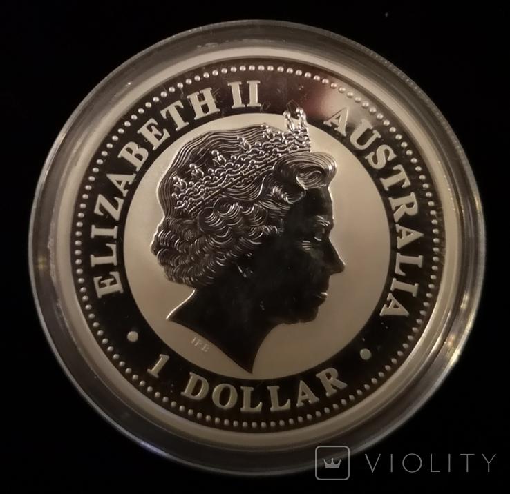Австралия 1 доллар 2006 год Собаки серебро 1 унция 999 пробы, фото №4