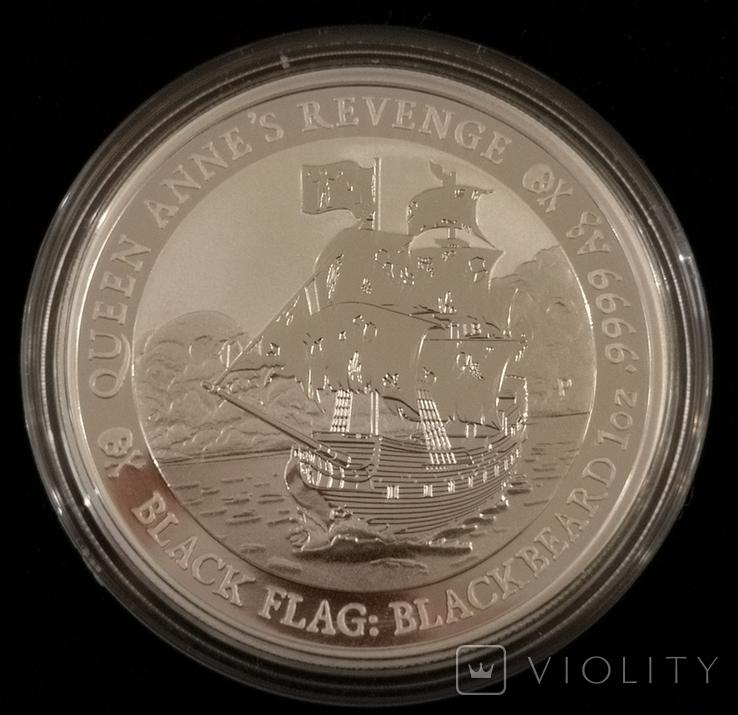 Тувалу Черные Паруса: Месть Королевы Анны 2019 год 1 унция серебро 999, фото №4