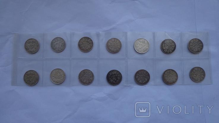 1/2 марки погодовка 14 монет, фото №2