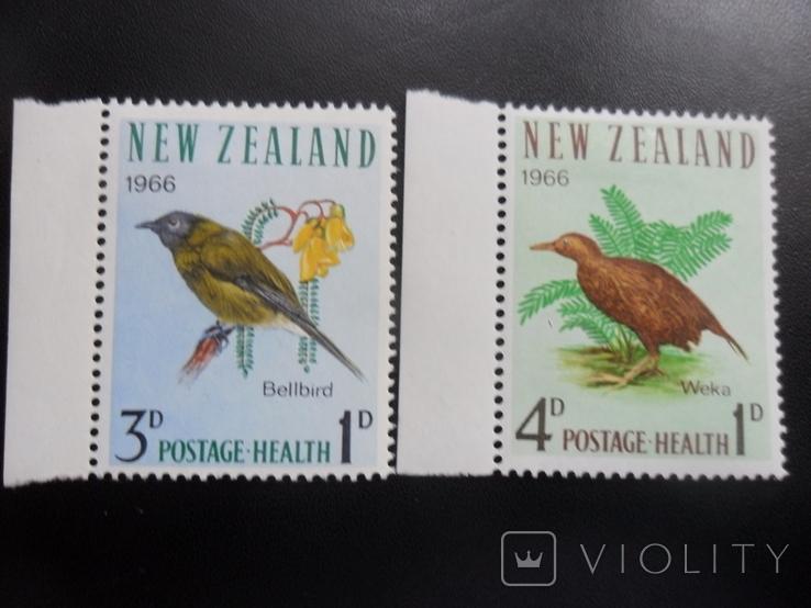 Фауна. Птицы. Новая Зеландия. 1966 г. МН, фото №2