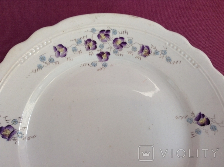 Тарелка плоская обеденная Цветы. Фарфор, A.F.Sussmann., фото №3