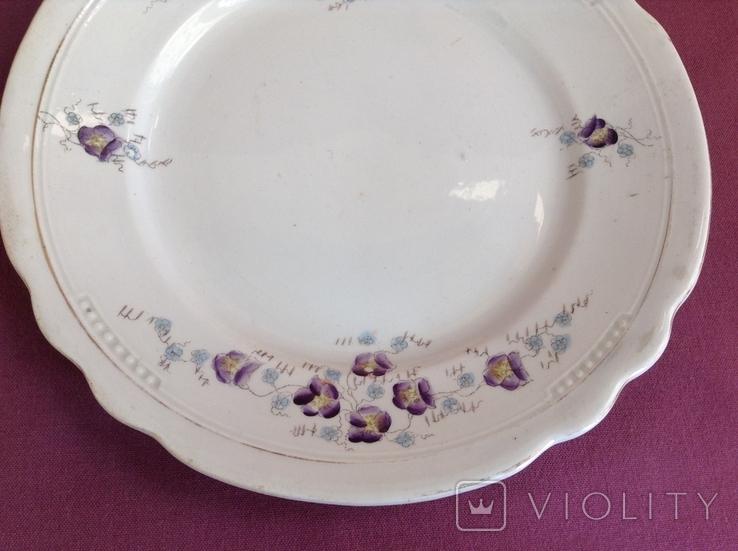 Тарелка плоская обеденная Цветы. Фарфор, A.F.Sussmann., фото №4
