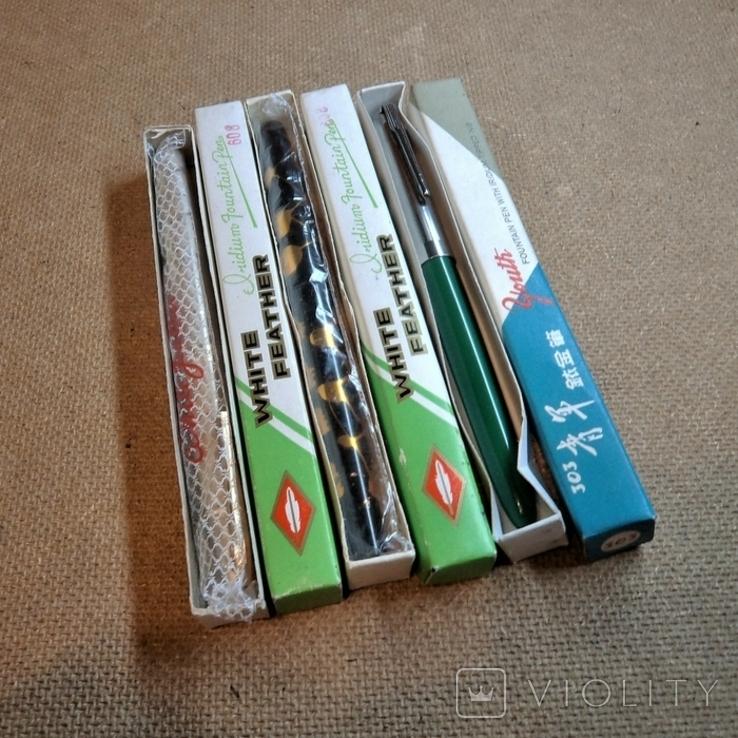 Ручки перьевые новые, фото №3