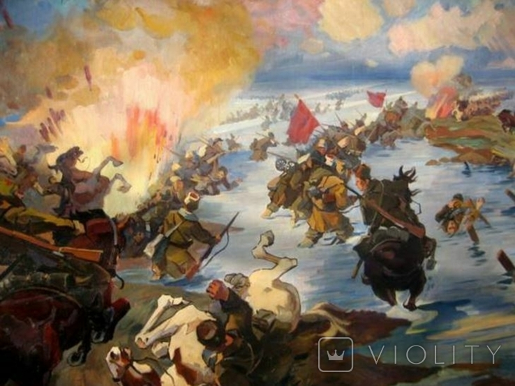 ''Переход красной армии через Сиваш''  копия, фото №3