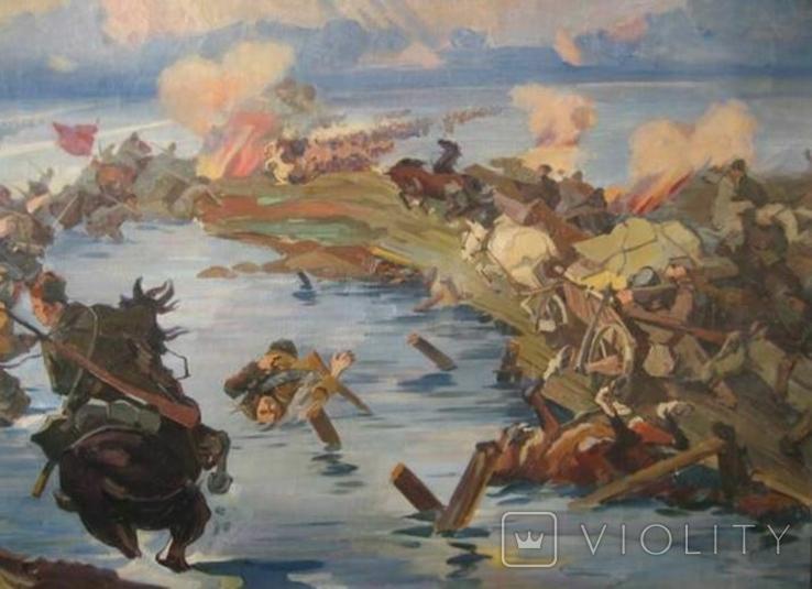 ''Переход красной армии через Сиваш''  копия, фото №4