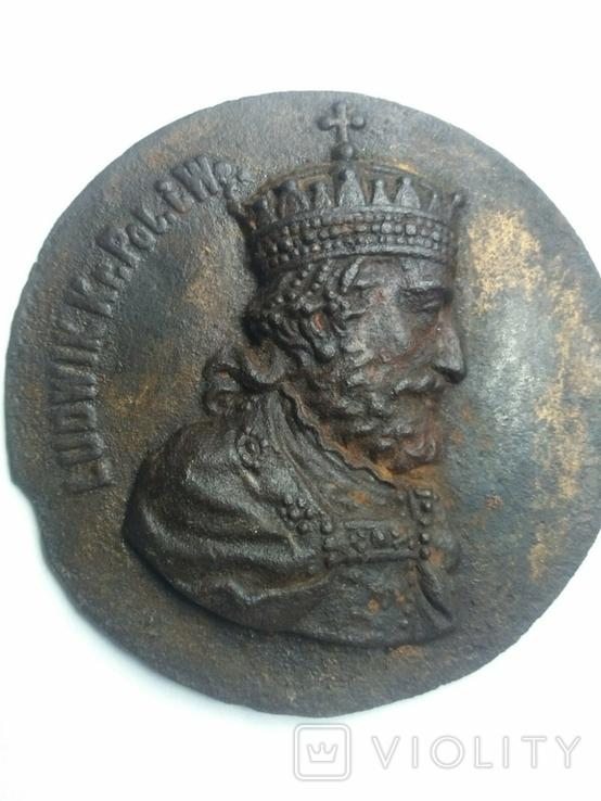 Плакетка Король Польщі Людовік І Великий, фото №6