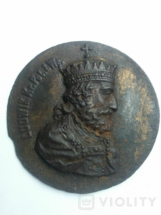 Плакетка Король Польщі Людовік І Великий, фото №7