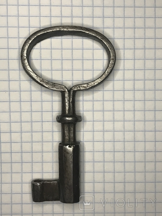 Старинный кованый ключ, фото №6