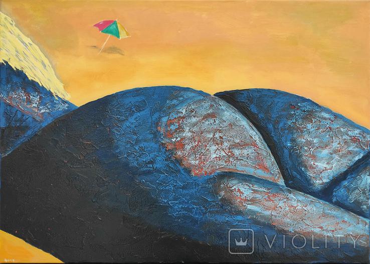 Картина акрил холст 50х70 И Безроднов Пляж 2021, фото №2