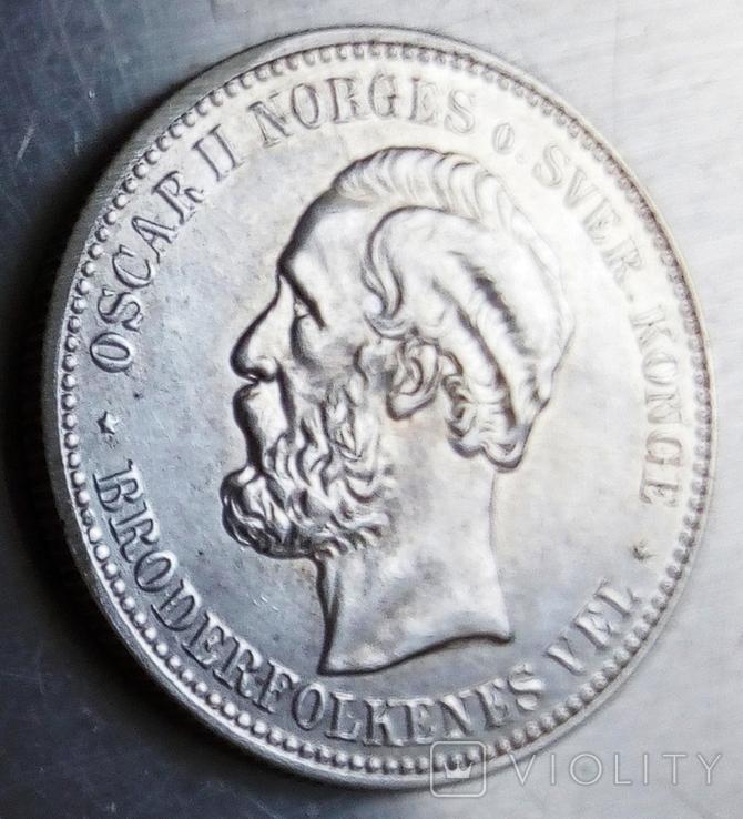 2 крони 1887 року Норвегія, фото №4