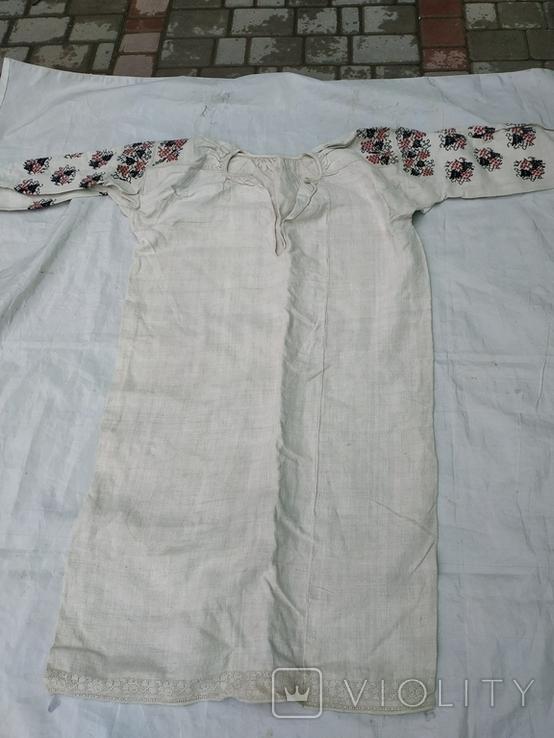 Сорочка вишиванка конопляна полотняна Миргородська святкова рубаха женская старинная, фото №2