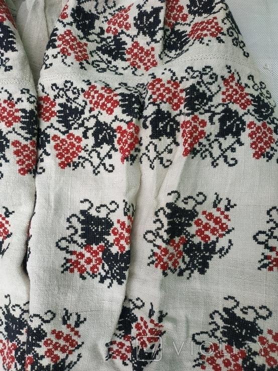 Сорочка вишиванка конопляна полотняна Миргородська святкова рубаха женская старинная, фото №4