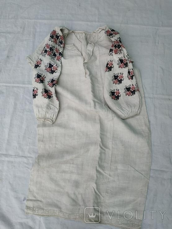 Сорочка вишиванка конопляна полотняна Миргородська святкова рубаха женская старинная, фото №7