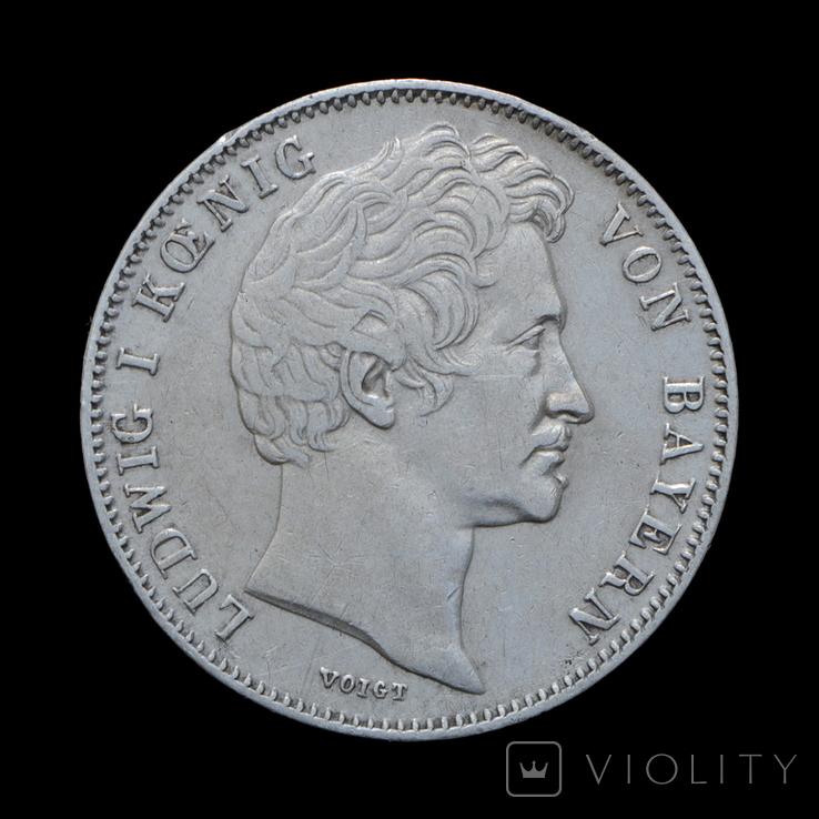 1/2 Гульдена 1847, Бавария, фото №2