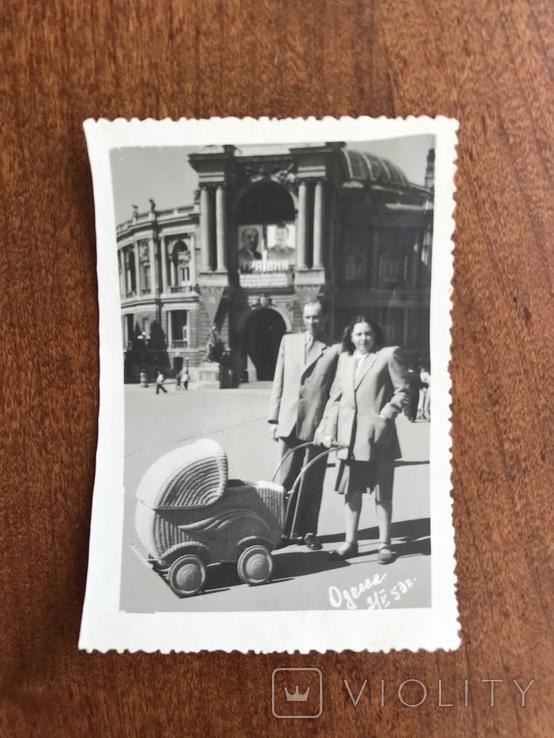 1953 Одесса Оперный театр Коляска Фото Сталин Ленин, фото №3